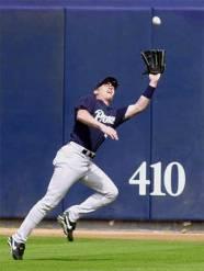 Mike Darr was an above average fielder.